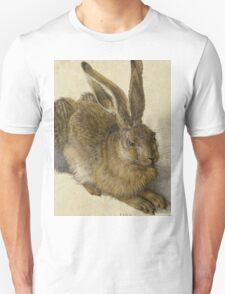 Albrecht Durer - Hare 1502. Young hare painting: cute hare,  hares,  rabbits,  animals,  bunnies,  realistic ,  wild,  animal,  rabbit,  wild animals,  fur  Unisex T-Shirt
