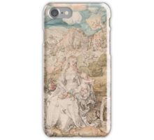 Vintage famous art - Albrecht Durer - Mary Among A Multitude Of Animals,  1503 iPhone Case/Skin