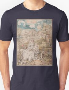 Vintage famous art - Albrecht Durer - Mary Among A Multitude Of Animals,  1503 T-Shirt