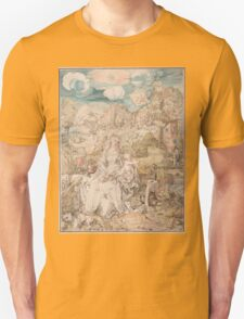 Vintage famous art - Albrecht Durer - Mary Among A Multitude Of Animals,  1503 Unisex T-Shirt