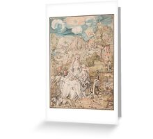 Vintage famous art - Albrecht Durer - Mary Among A Multitude Of Animals,  1503 Greeting Card