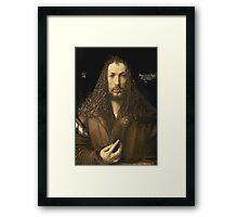 Vintage famous art - Albrecht Durer - Self Portrait Framed Print