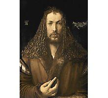 Vintage famous art - Albrecht Durer - Self Portrait Photographic Print