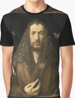 Vintage famous art - Albrecht Durer - Self Portrait Graphic T-Shirt