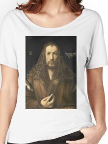 Vintage famous art - Albrecht Durer - Self Portrait Women's Relaxed Fit T-Shirt