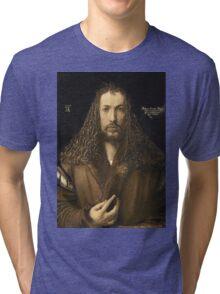Vintage famous art - Albrecht Durer - Self Portrait Tri-blend T-Shirt