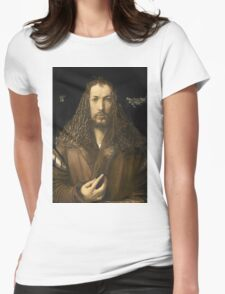 Vintage famous art - Albrecht Durer - Self Portrait Womens Fitted T-Shirt