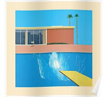 David Hockey - A Bigger Splash Poster