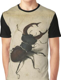Vintage famous art - Albrecht Durer - Stag Beetle 1505 Graphic T-Shirt