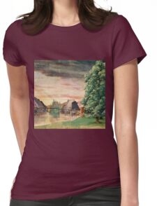 Vintage famous art - Albrecht Durer - The Watermill Womens Fitted T-Shirt
