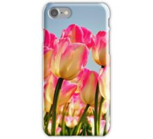 Pink Tulips Bow For The Sun iPhone Case/Skin