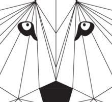 Geometric Wolf Sticker