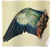Vintage famous art - Albrecht Durer - Wing Of A Blue Roller Poster