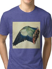 Vintage famous art - Albrecht Durer - Wing Of A Blue Roller Tri-blend T-Shirt
