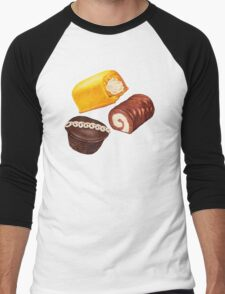 Hostess Cakes Pattern Men's Baseball ¾ T-Shirt