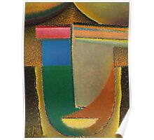 Vintage famous art - Alexei Jawlensky  - Abstract Head Poster