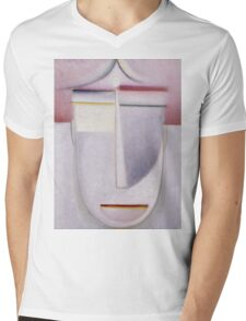 Vintage famous art - Alexei Jawlensky  - Abstract Head Africa Mens V-Neck T-Shirt