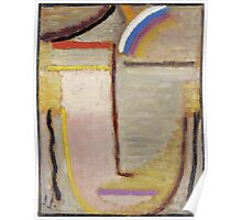 Vintage famous art - Alexei Jawlensky  - Abstract Head Composition No 2  Winter  Poster