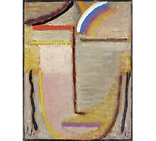 Vintage famous art - Alexei Jawlensky  - Abstract Head Composition No 2  Winter  Photographic Print