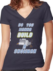 Winter Build Women's Fitted V-Neck T-Shirt