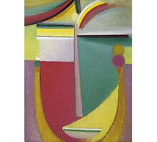 Vintage famous art - Alexei Jawlensky  - Abstract Head Inner Vision Photographic Print