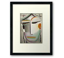 Vintage famous art - Alexei Jawlensky  - Heilandsgesicht Remote King - Buddha Ii Framed Print