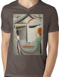 Vintage famous art - Alexei Jawlensky  - Heilandsgesicht Remote King - Buddha Ii Mens V-Neck T-Shirt