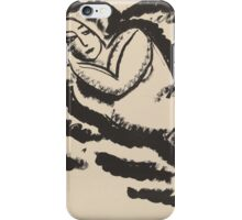 Vintage famous art - Alexei Jawlensky  - Reclining Nude iPhone Case/Skin