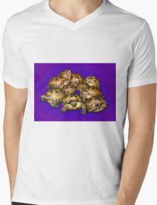 Greek Tortoise Group on Purple Background Mens V-Neck T-Shirt