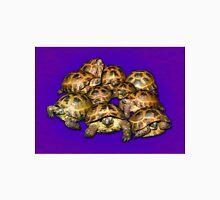 Greek Tortoise Group on Purple Background Unisex T-Shirt