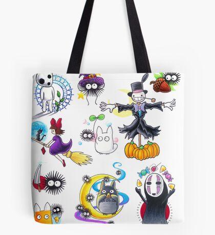 Ghibli Flash Mash Up Tote Bag