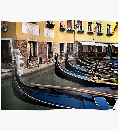 Gondolas Venice Poster