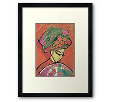Vintage famous art - Alexei Jawlensky  - Young Girl With A Flowered Hat Framed Print