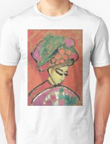 Vintage famous art - Alexei Jawlensky  - Young Girl With A Flowered Hat Unisex T-Shirt
