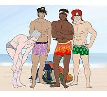Underwear Beach Party Photographic Print