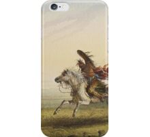 Vintage famous art - Alfred Jacob Miller  - Beating A Retreat iPhone Case/Skin