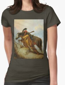 Vintage famous art - Alfred Jacob Miller  - The Scalplock Womens Fitted T-Shirt