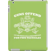 Guns offend iPad Case/Skin