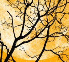 yellow night Sticker