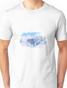Aerial Photo New Zealand Snow White Covered Mountains Unisex T-Shirt