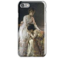 Vintage famous art - Alfred Stevens  - After The Ball, Also Known As Confidence iPhone Case/Skin