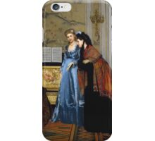 Vintage famous art - Alfred Stevens  - Elegant Figures In A Salon 1840 iPhone Case/Skin