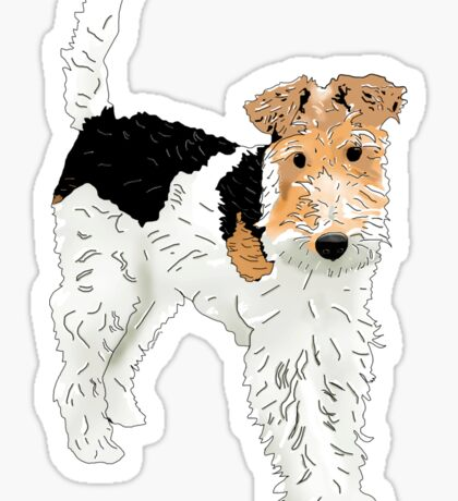 Wire Hair Fox Terrier Sticker