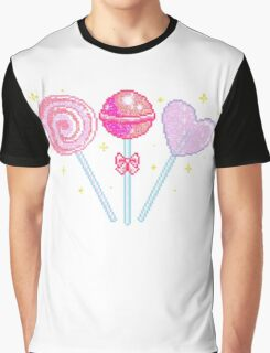 Pink Sparkly Lollipops Graphic T-Shirt