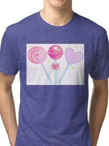 Pink Sparkly Lollipops Tri-blend T-Shirt