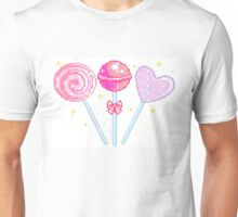 Pink Sparkly Lollipops Unisex T-Shirt