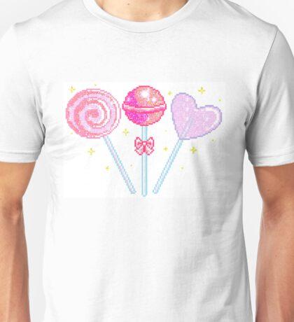 Pink Sparkly Lollipops Unisex T-Shirt