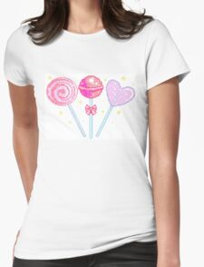 Pink Sparkly Lollipops Womens Fitted T-Shirt