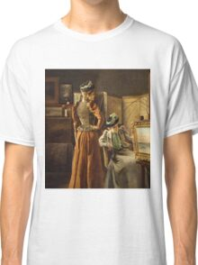 Vintage famous art - Alfred Stevens  - Visit To The Studio 1891 Classic T-Shirt