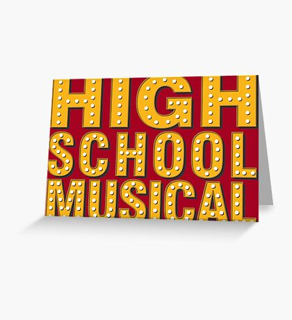 High School And Musical Greeting Card
